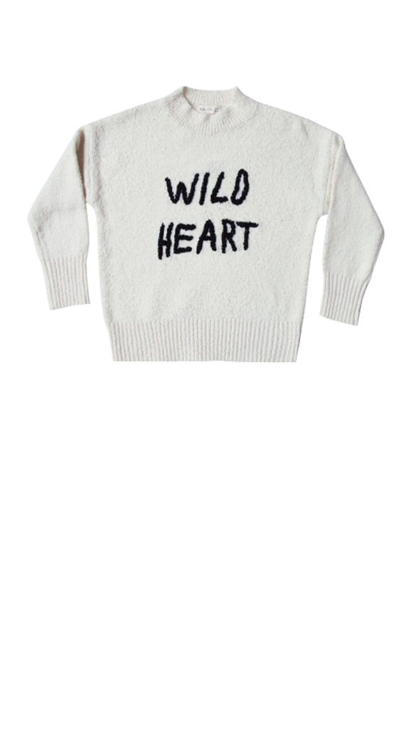 Wild Heart Embroidered Cassidy Sweater - Ivory