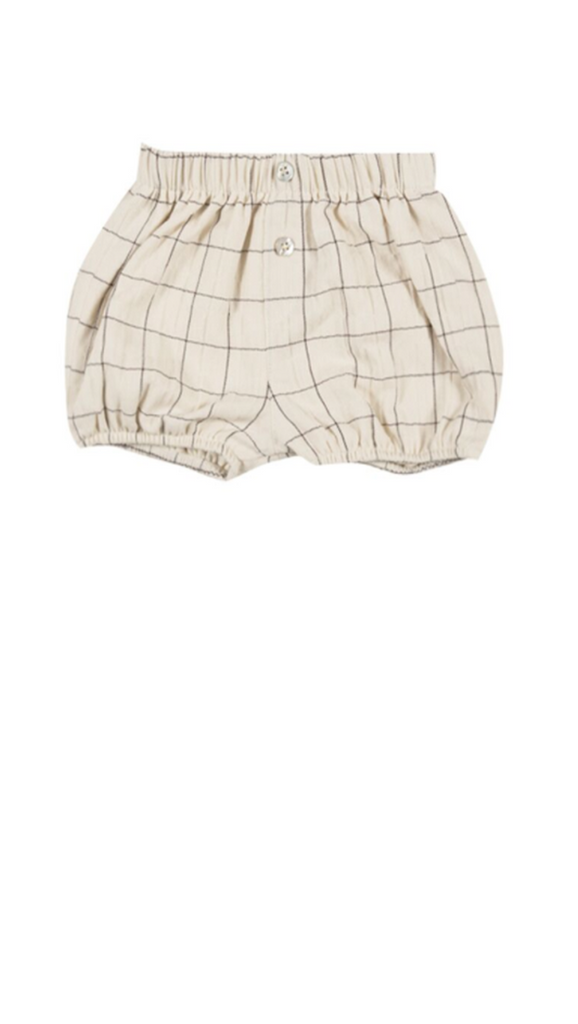 Rylee + Cru, Check Button Short - Vanilla