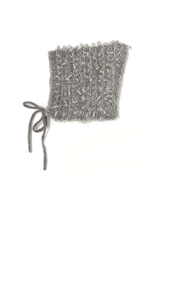 Looped Knit Pixie Hat - Grey