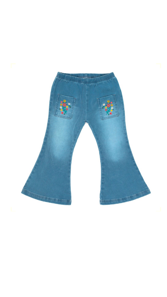 Children of the Tribe, Mariachi Denim Flares - Denim