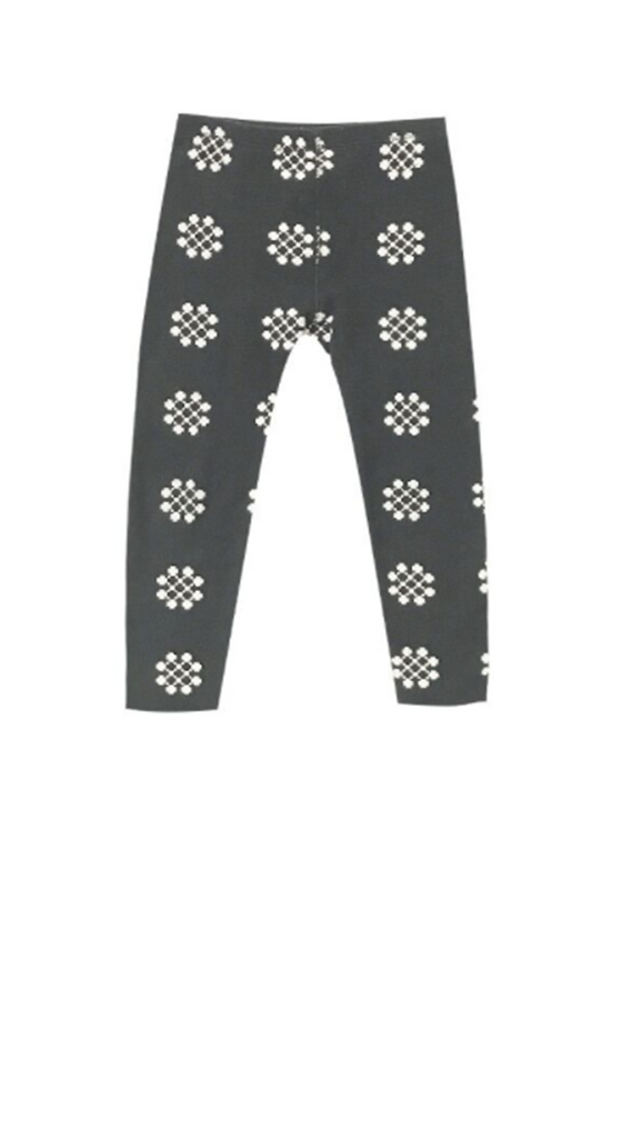 Rylee + Cru, Medallion Knit Legging - Charcoal
