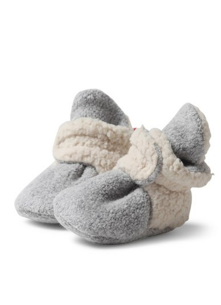 Zutano, Fleece Furry Lined Bootie - Heather Gray