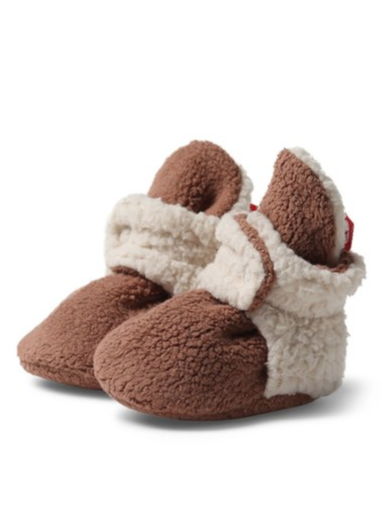 Zutano, Fleece Furry Lined Bootie - Chocolate