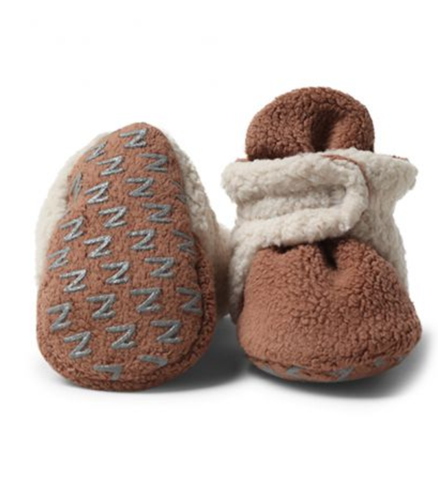 Zutano, Fleece Lined Bootie w/ Gripper - Chocolate