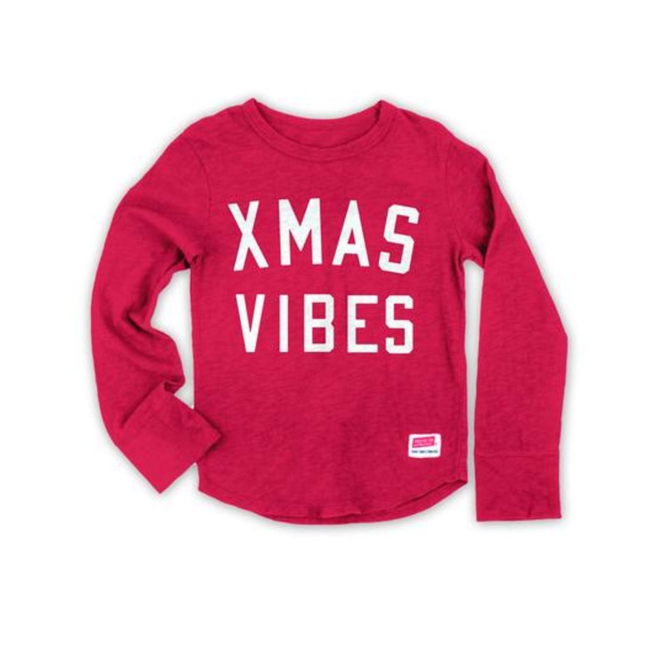 Prefresh, Xmas Vibes Long Sleeve T - Red