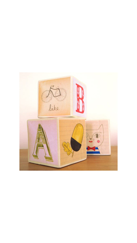 Julia Staite Wooden Blocks ABC