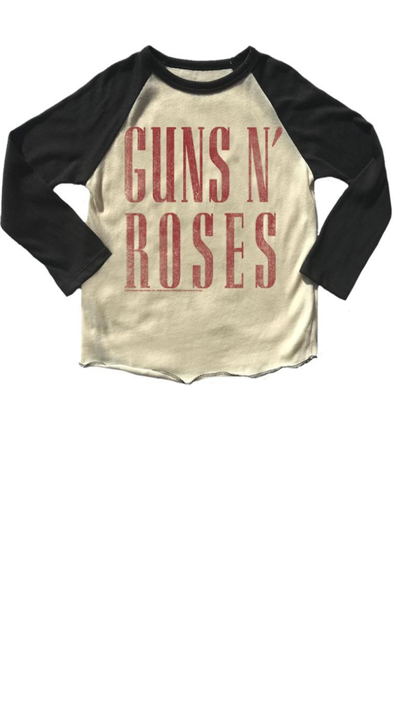 Guns n Roses Raglan Tee - Cream/Black
