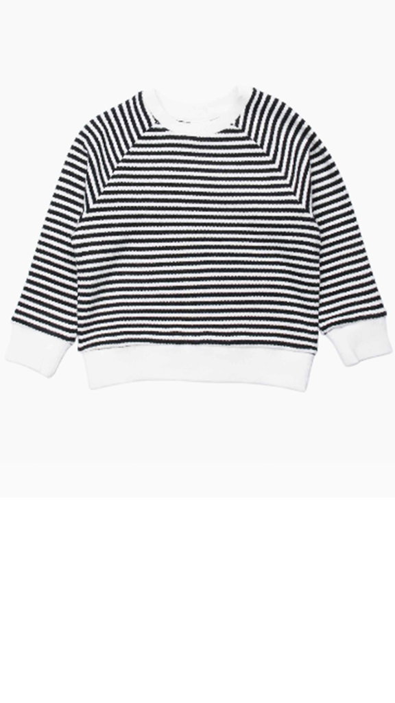 Damien Long Sleeve Sweater - White