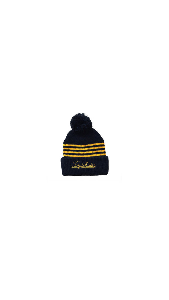 "Tiny Whales ""Bandit Beanie - Black/Gold"