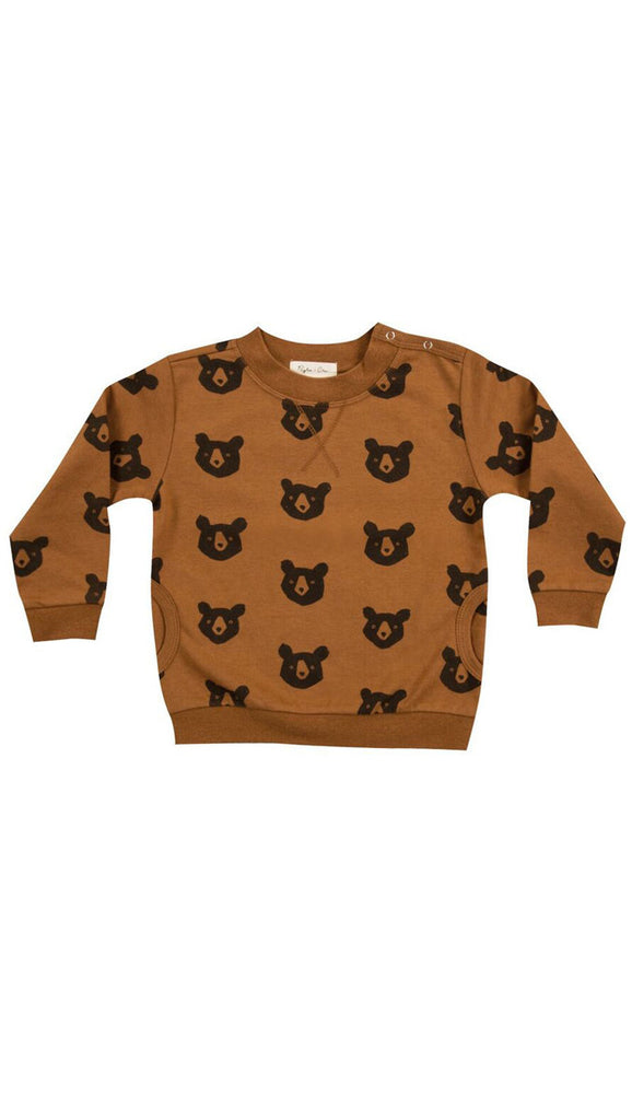 rylee + cru black bear sweatshirt - rust