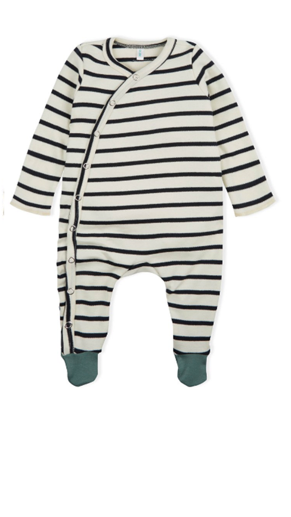 Breton Suit with Contrast Feet - Stripe