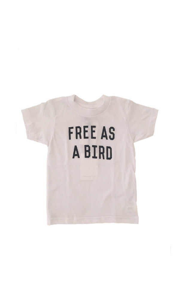 The Bee + The Fox, Free As a Bird Tee - White