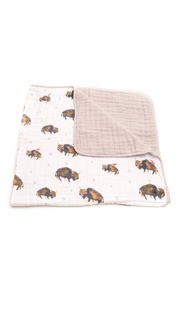 Little Unicorn Cotton Muslin Bison Quilt