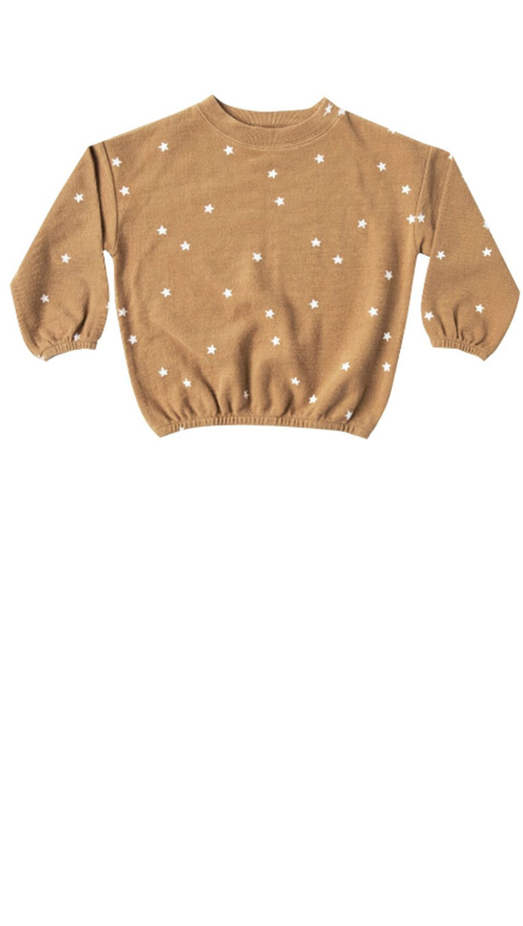 Stars Slouchy Pullover  - Marigold