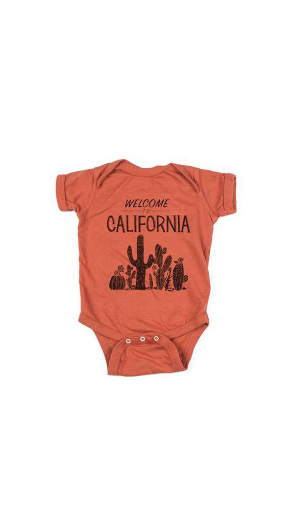 Feather 4 Arrow, Welcome to California Onesie - Clay