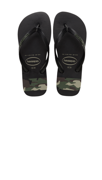 Top Stripes Logo Sandal - Black/Olive