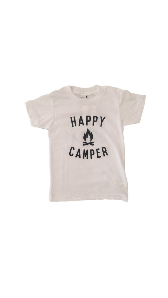 The Bee + The Fox, Happy Camper Tee - White