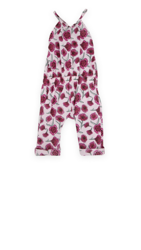 Lil' Lemons, Garden Party Romper - Pink Carnation