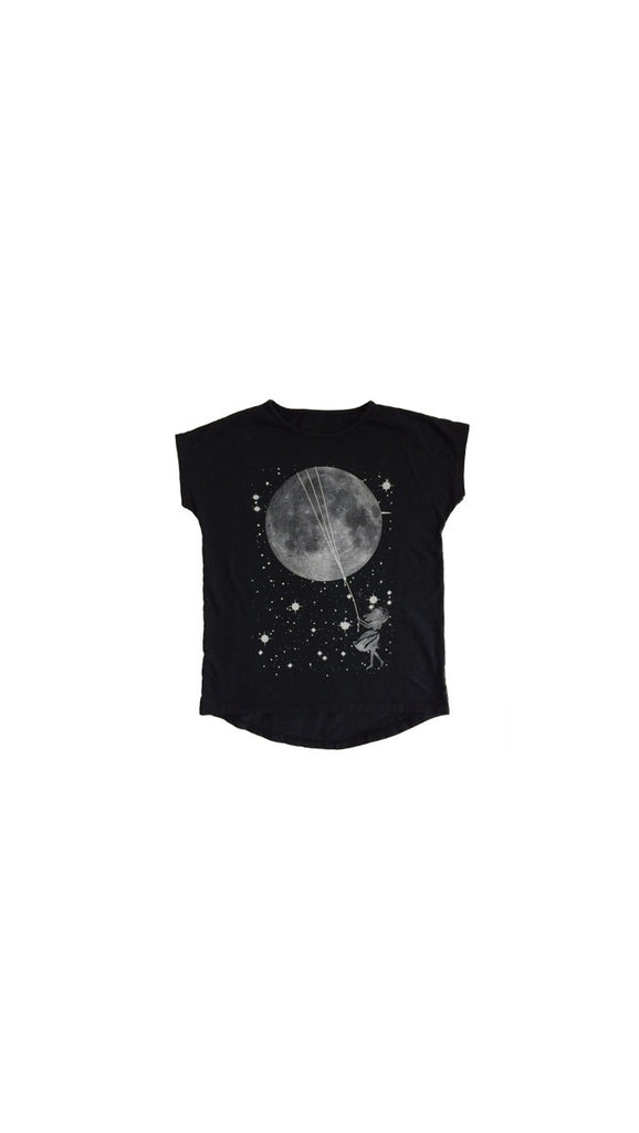 "Tiny Whales ""Catch the Moon"" tee - Black"