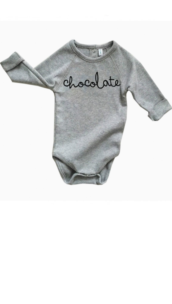 Chocolate Onesie - Grey