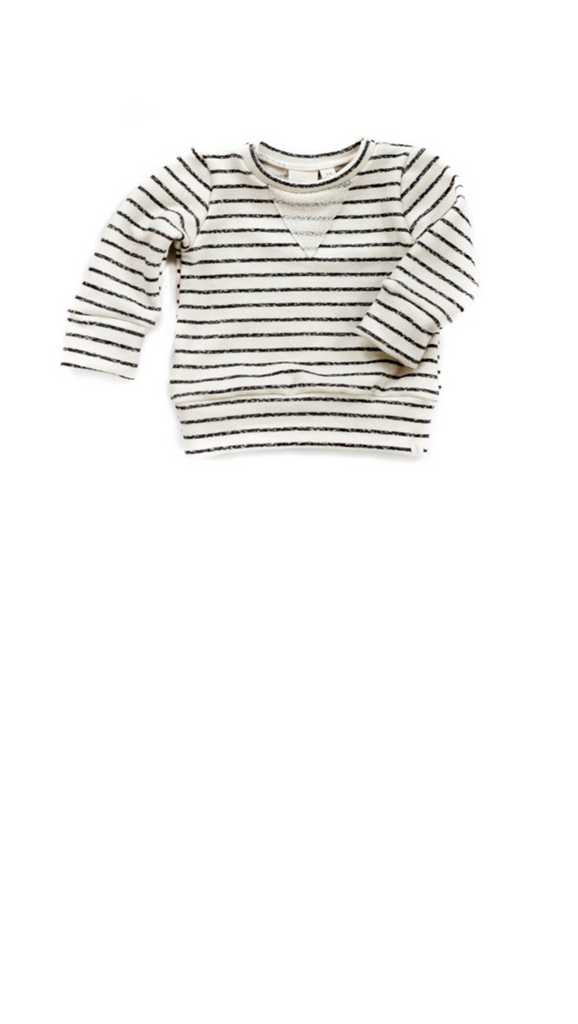 Babysprout co, Sweatshirt - Charcoal Stripe