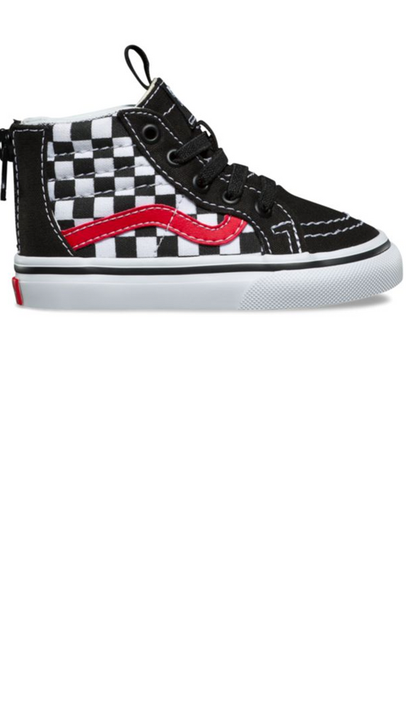SK8-Hi Zip - Checkerboard / Black/Red