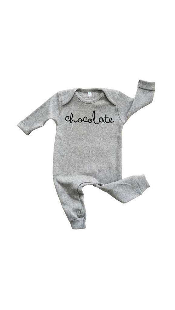 Organic Zoo, Chocolate Bodysuit - Grey