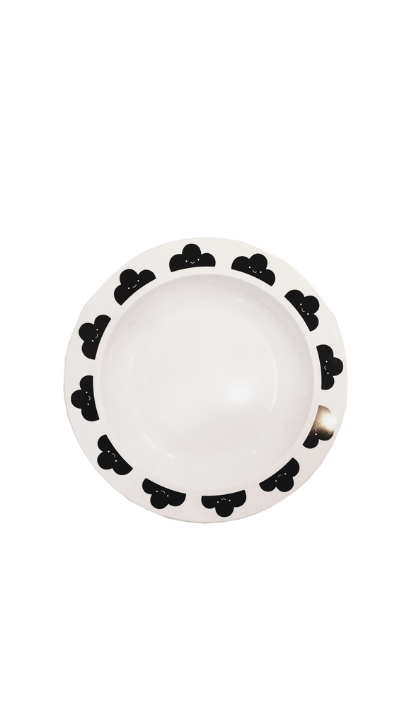 Happy Clouds Plate - Black