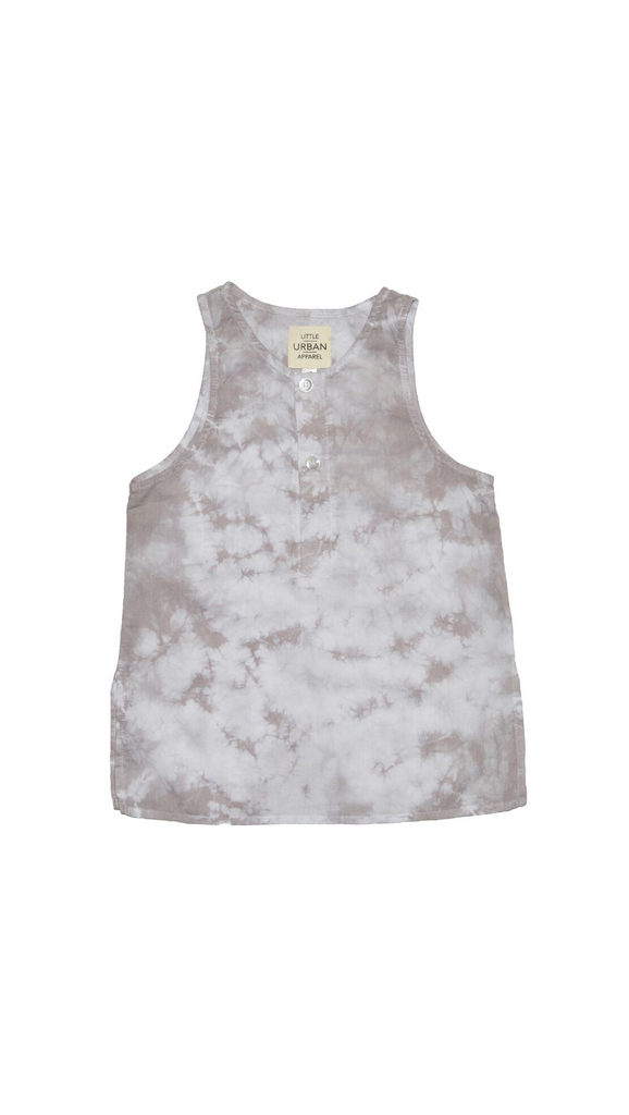 Little Urban Apparel,  Kurta Tank Top - Gray Cloud