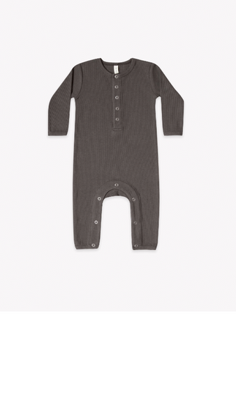 Ribbed Baby Jumpsuit - Coal