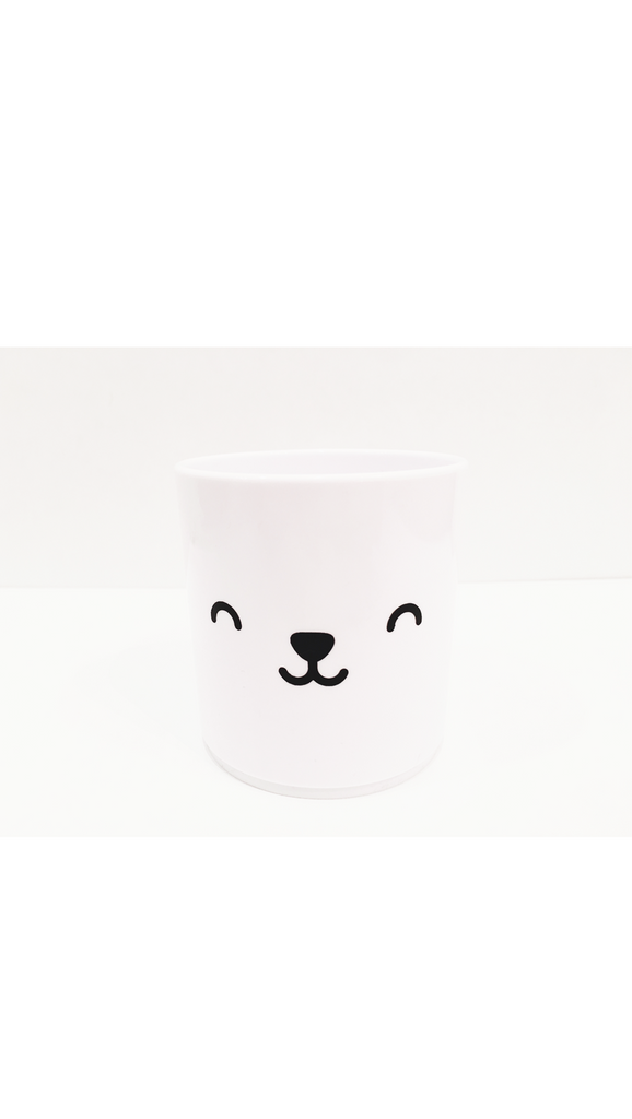 Buddy & Bear, Bear Tumbler - White