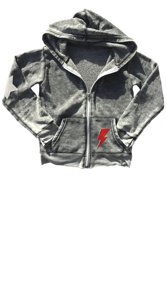 David Bowie Burnout Hoody - Off Black