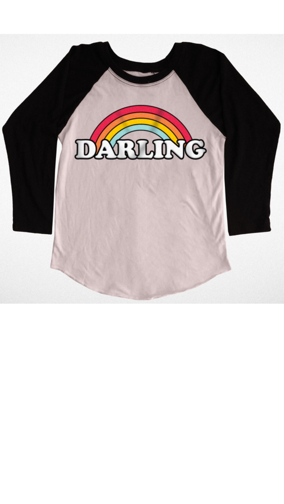 Tiny Whales, Darling Raglan - Faded Pink