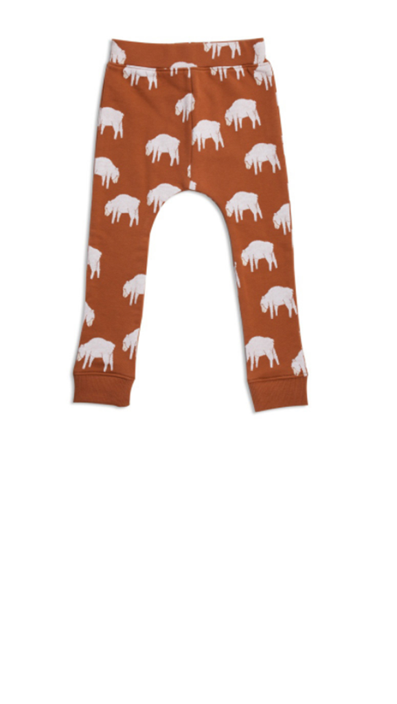 Counting Sheep Low Slung Sweat Pant - Toffee