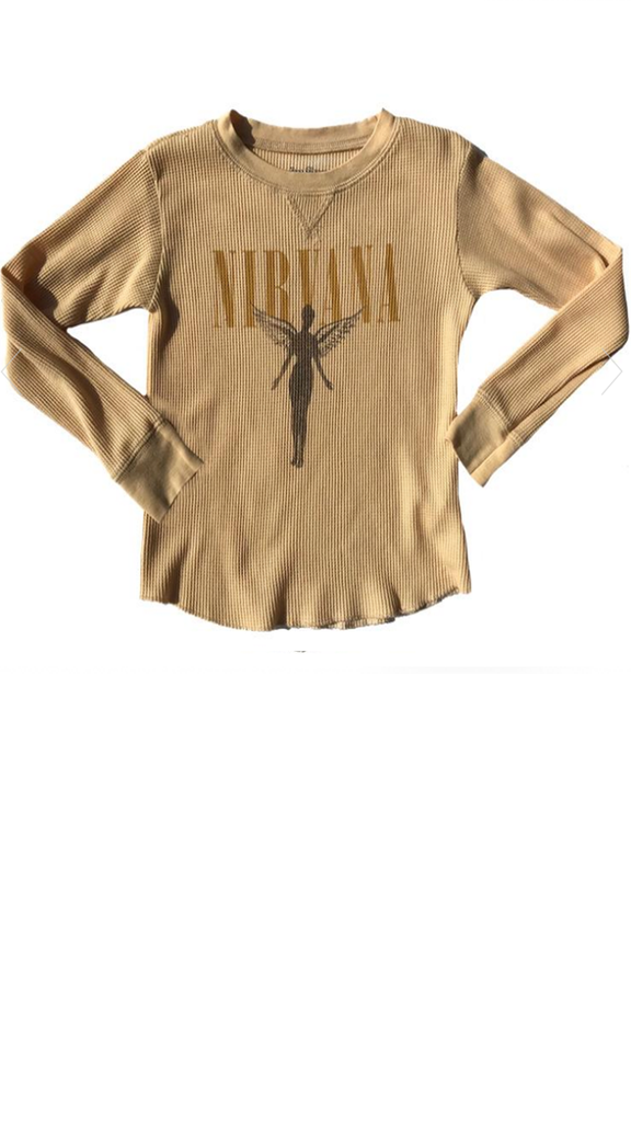 Nirvana Thermal Burnout Tee - Almond