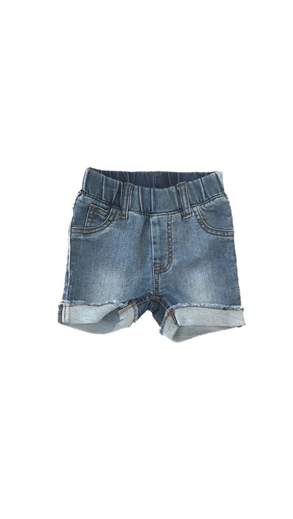 Beau Hudson, Blue Denim Jeg Shorts - Denim