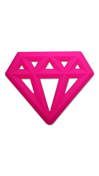 Little Standout - Silicone Diamond Teether - More Colors