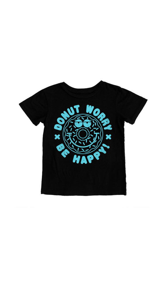 "Tiny Whales ""Donut Worry"" tee - black"