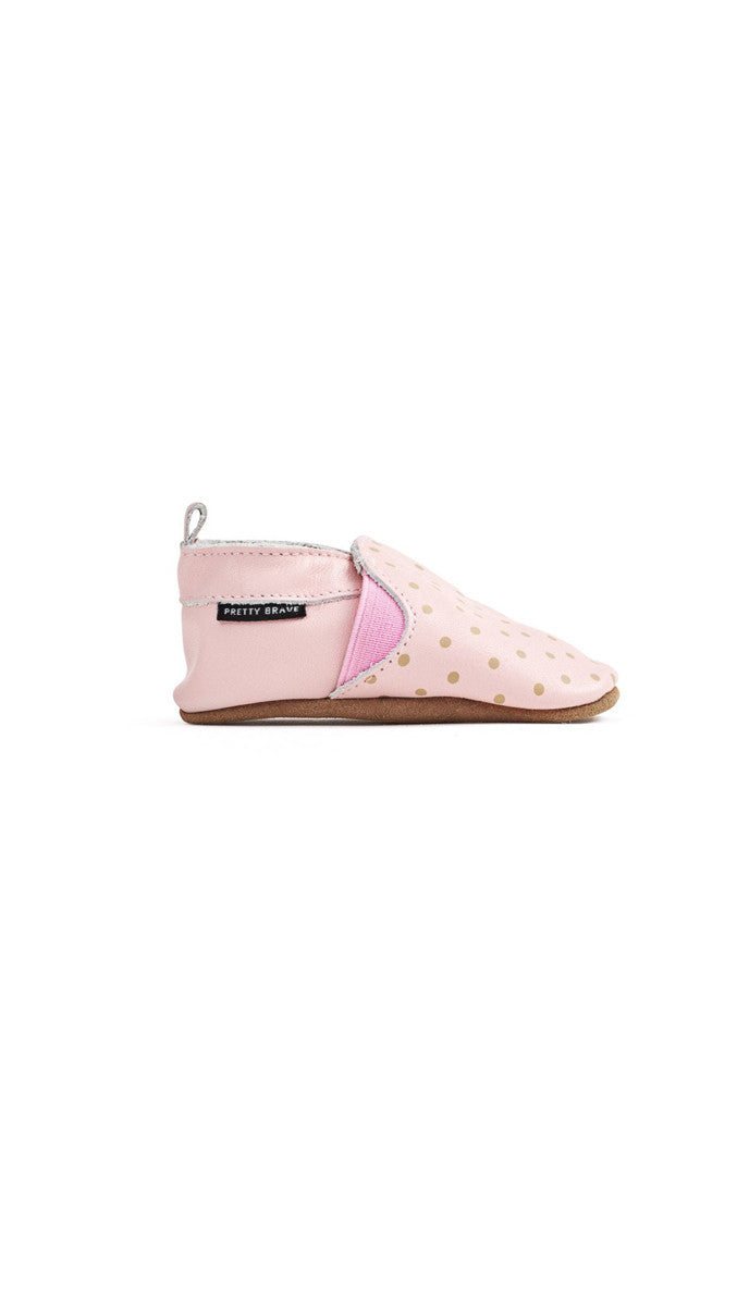 Slip On Mocs - Blush with Dots