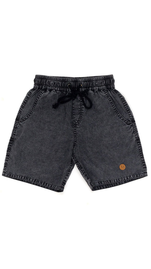 Children of the Tribe, Drawstring Shorts - Black Clouds