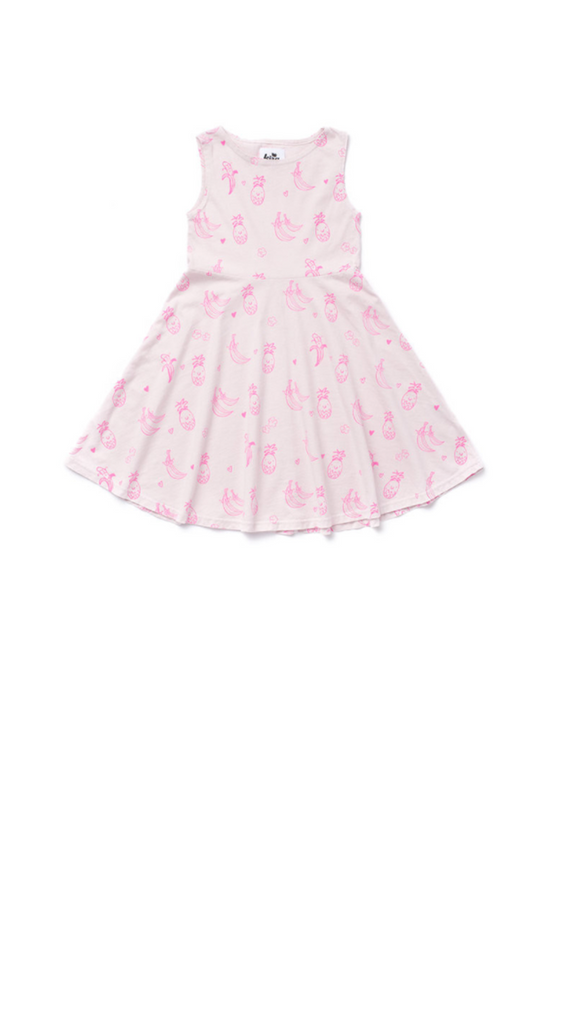 Kira Kids, Fruit Skater Dress - Light Lilac