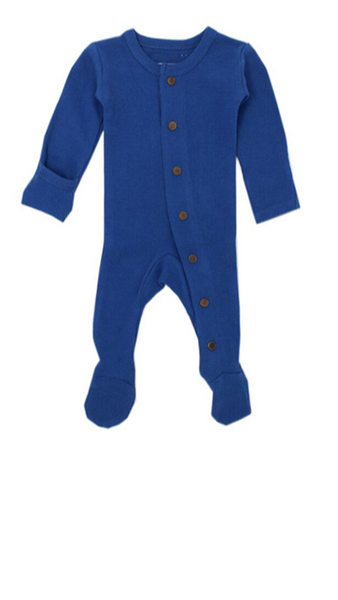 Organic Thermal Footed Overall - Sapphire