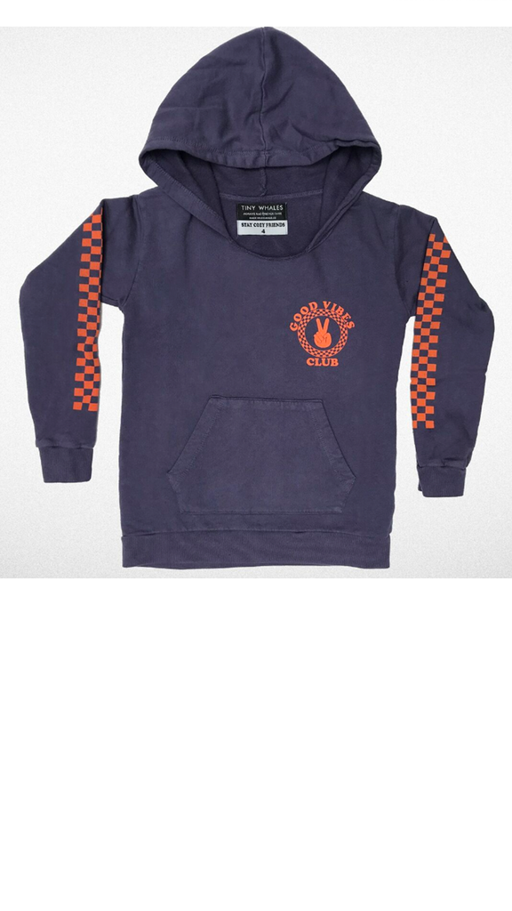 """Good Vibes Club"" Hooded Sweatshirt - Navy"