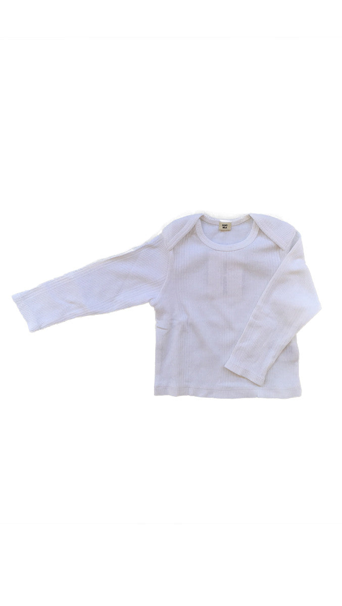 Goat Milk, Baby Thermal Top - White
