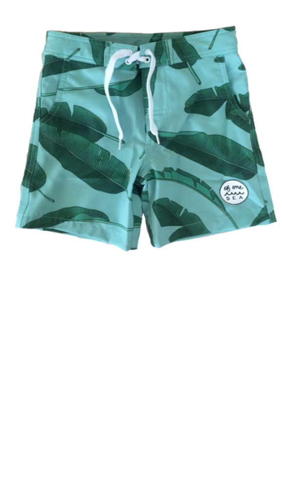Kid's  Swim Trunks - Banana Leaves