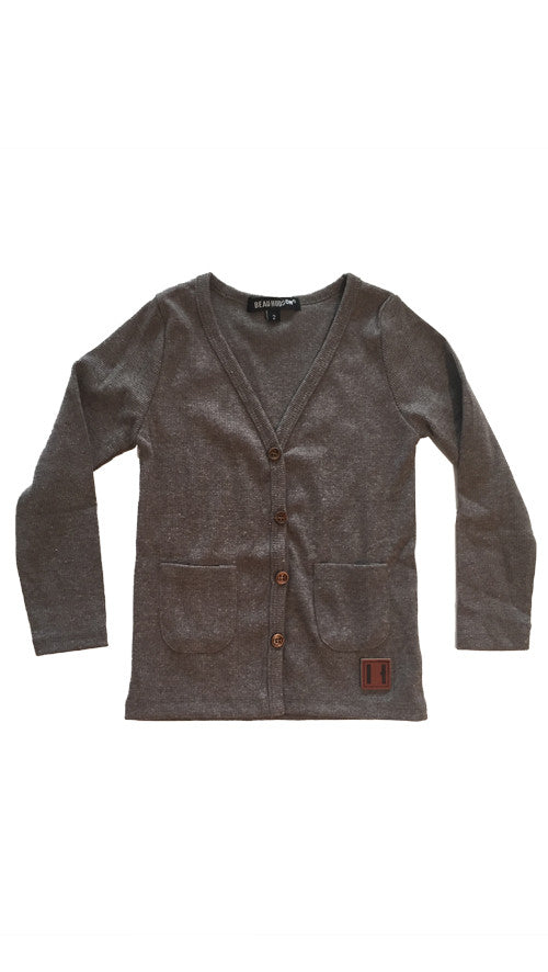 Beau Hudson, Signature Cardigan - dark grey