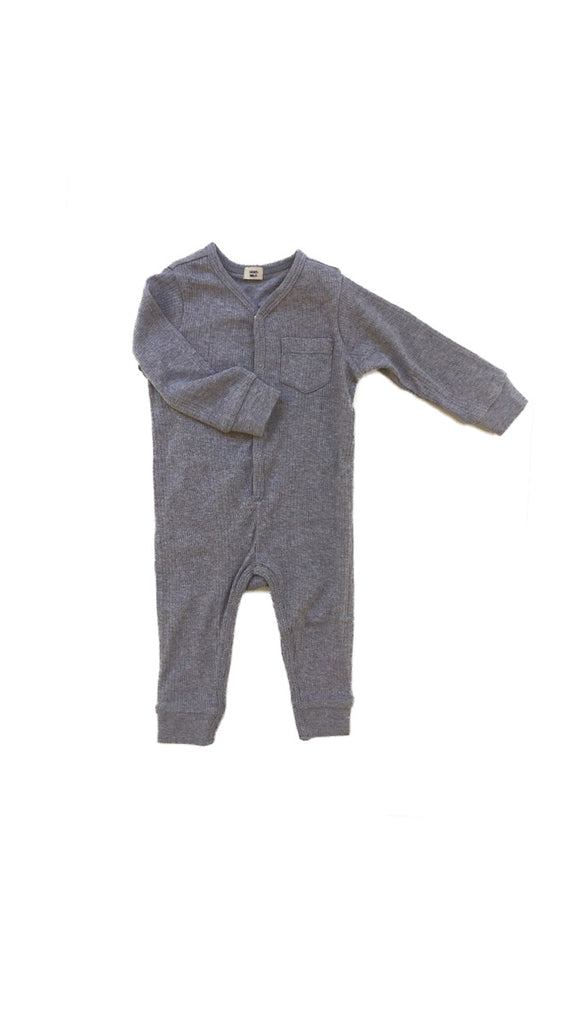 Goat Milk, Union Suit - Grey