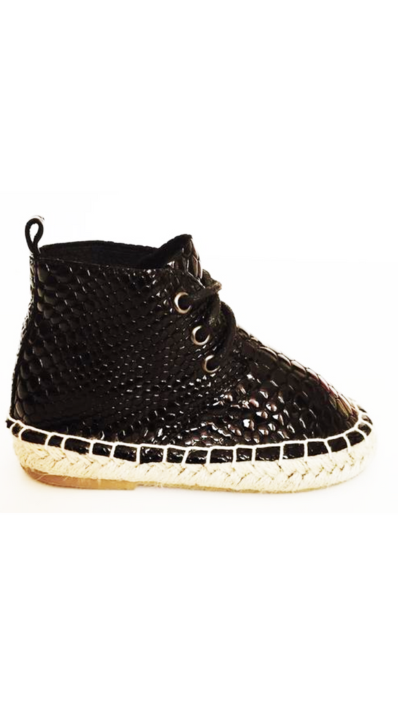 Gator Boot - Black Crocodile