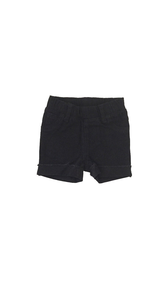 Beau Hudson, Denim Jeg Shorts - Black