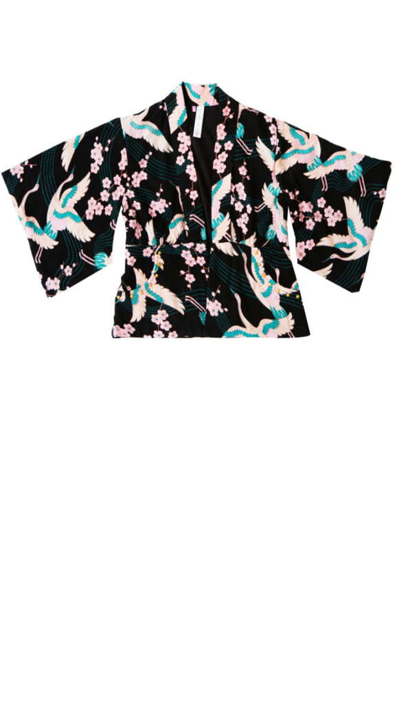 Bowie James, Desert Dreams Kimono - Black